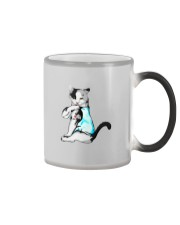 cat love mom Color Changing Mug tile
