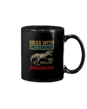 MESS WITH UNCLESAURUS AND YOU'LL GET JURASSKICKED Mug thumbnail