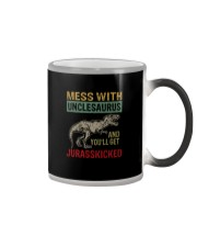 MESS WITH UNCLESAURUS AND YOU'LL GET JURASSKICKED Color Changing Mug thumbnail