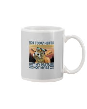 NOT TODAY HEIFER NOT MY PASTURE a Mug tile