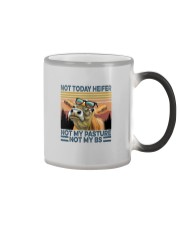 NOT TODAY HEIFER NOT MY PASTURE a Color Changing Mug thumbnail