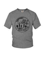 SUPPORT WILDLIFE RAISE BOYS Youth T-Shirt thumbnail