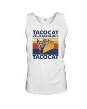 TACOCAT SPELLED BACKWARDS IS TACOCAT Unisex Tank thumbnail