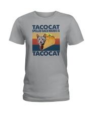 TACOCAT SPELLED BACKWARDS IS TACOCAT Ladies T-Shirt thumbnail