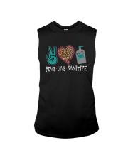 PEACE LOVE AND SANITIZE Sleeveless Tee thumbnail