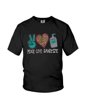 PEACE LOVE AND SANITIZE Youth T-Shirt thumbnail