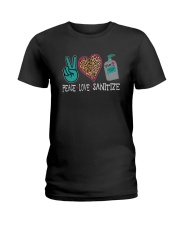 PEACE LOVE AND SANITIZE Ladies T-Shirt thumbnail