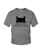 DON'T GO OUTSIDE PEOPLE OUT THERE Youth T-Shirt thumbnail