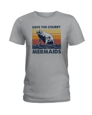SAVE THE CHUBBY MERMAIDS Ladies T-Shirt tile