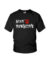 STAY PAWSITIVE Youth T-Shirt thumbnail