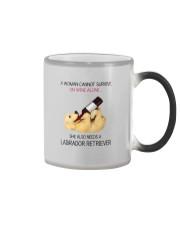 A WOMAN NEEDS WINE AND LADRADOR Color Changing Mug thumbnail