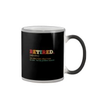 RETIRED I DO WHAT I WANT WHENT I WANT Color Changing Mug thumbnail