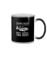 FISHING SOLVES MOST OF MY PROBLEMS  Color Changing Mug thumbnail