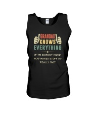 GRANDAD KNOWS EVERYTHING Unisex Tank tile