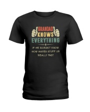 GRANDAD KNOWS EVERYTHING Ladies T-Shirt thumbnail