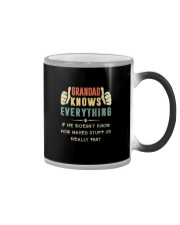 GRANDAD KNOWS EVERYTHING Color Changing Mug tile