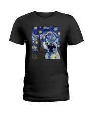 VAN GOGH FRENCH BULDOG Ladies T-Shirt thumbnail