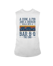 A COW A PIG A CHICKEN WALK INTO A BARBQ Sleeveless Tee tile