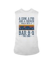 A COW A PIG A CHICKEN WALK INTO A BARBQ Sleeveless Tee thumbnail