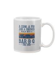 A COW A PIG A CHICKEN WALK INTO A BARBQ Mug thumbnail