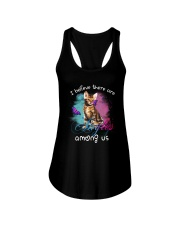 I BELIEVE THERE ARE ANGELS AMONG US BENGAL CAT Ladies Flowy Tank thumbnail