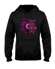 TATS NAPS AND CATS PURPLE ANEMONE FLOWER Hooded Sweatshirt thumbnail