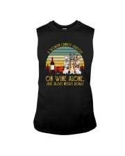 A WOMAN SURVIVES WINE AND DOGS Sleeveless Tee thumbnail