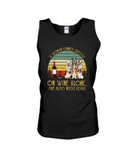 A WOMAN SURVIVES WINE AND DOGS Unisex Tank thumbnail