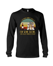 A WOMAN SURVIVES WINE AND DOGS Long Sleeve Tee thumbnail