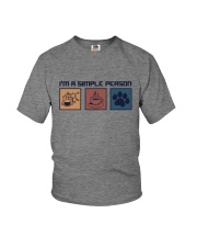 I'M A SIMPLE PERSON CHEMISTRY COFFEE DOG Youth T-Shirt thumbnail