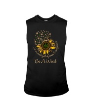 IN A WORLD FULL OF ROSES  BE A WEED LEOPARD Sleeveless Tee thumbnail