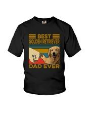 BEST GOLDEN RETRIEVER DAD EVER Youth T-Shirt thumbnail