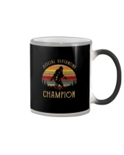 VINTAGE FUNNY BIGFOOT SOCIAL DISTANCING CHAMPION Color Changing Mug thumbnail
