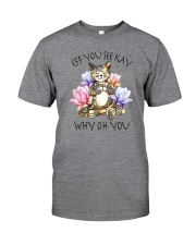 EFF YOU SEE KAY YOGA CAT Classic T-Shirt front
