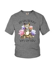 EFF YOU SEE KAY YOGA CAT Youth T-Shirt thumbnail