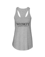 WHISKEY APOLOGIZE IN ADVANCE Ladies Flowy Tank tile