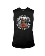 I WAS SOCIAL DISTANCING BEFORE IT WAS COOL BEAR Sleeveless Tee thumbnail