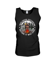 I WAS SOCIAL DISTANCING BEFORE IT WAS COOL BEAR Unisex Tank thumbnail