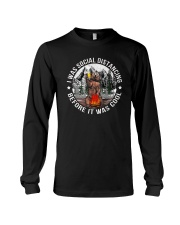 I WAS SOCIAL DISTANCING BEFORE IT WAS COOL BEAR Long Sleeve Tee thumbnail