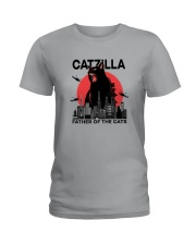 CATZILLA FATHER OF THE CATS Ladies T-Shirt thumbnail