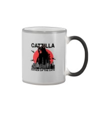 CATZILLA FATHER OF THE CATS Color Changing Mug thumbnail
