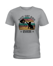 BEST CAT DAD EVER Ladies T-Shirt thumbnail