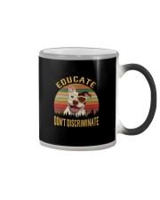 EDUCATE DON'T DISCRIMINATE Color Changing Mug thumbnail
