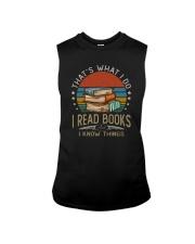 I READ BOOKS AND I KNOW THINGS Sleeveless Tee thumbnail