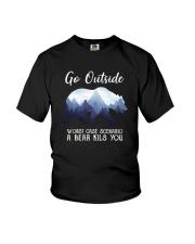 GO OUTSIDE BEAR Youth T-Shirt thumbnail