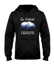 GO OUTSIDE BEAR Hooded Sweatshirt thumbnail