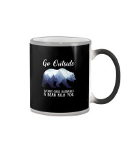 GO OUTSIDE BEAR Color Changing Mug thumbnail