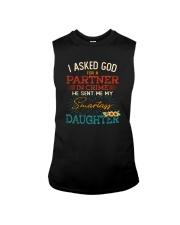 GOD SEND ME MY SMARTASS DAUGHTER Sleeveless Tee thumbnail