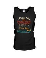 GOD SEND ME MY SMARTASS DAUGHTER Unisex Tank thumbnail