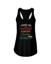 GOD SEND ME MY SMARTASS DAUGHTER Ladies Flowy Tank thumbnail